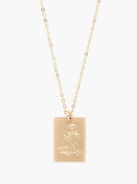 She's Worth More Portrait Tag Necklace FASHIONABLE