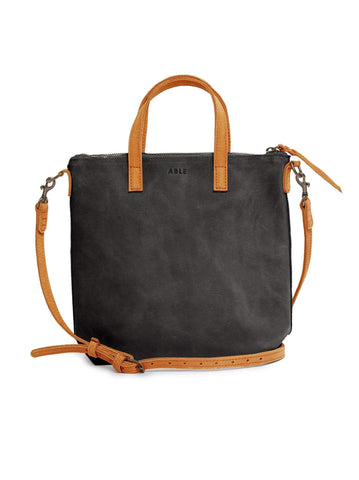 Cognac/Black Abera Commuter Leather Bag