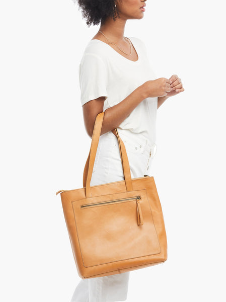 Elvia Top Zip Tote FASHIONABLE Leather
