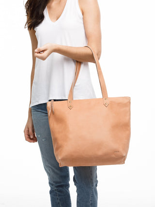 Chaltu Top Zip Rivet Tote FASHIONABLE Leather