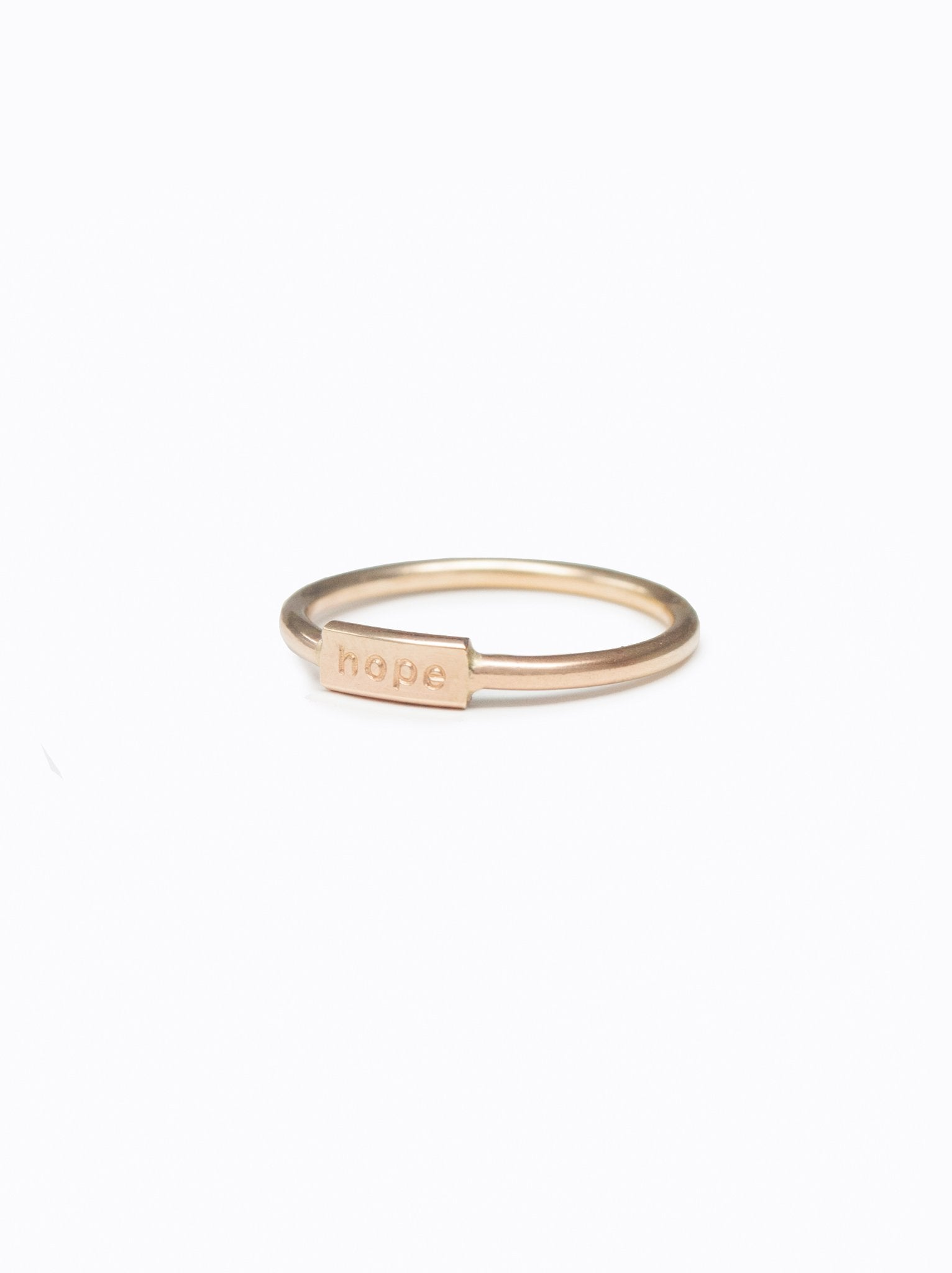 Delicate Word Ring