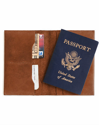 Alem Passport Wallet - Chestnut