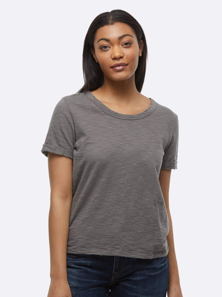 Lourdes Distressed Slouch Tee FASHIONABLE