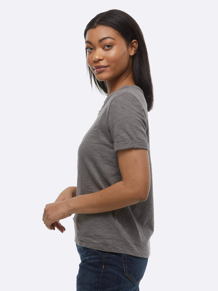 Lourdes Distressed Slouch Tee FASHIONABLE Apparel