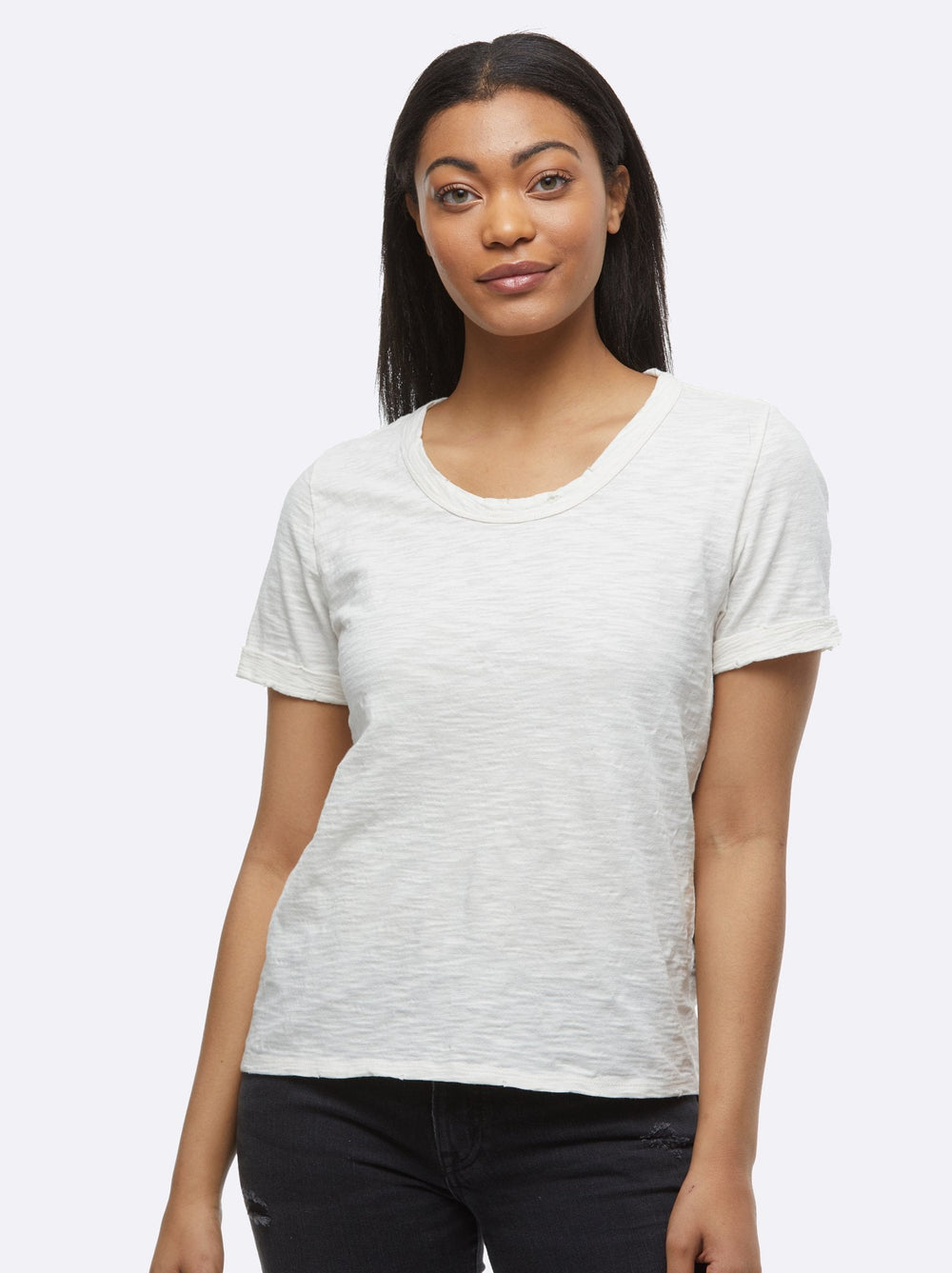 Lourdes Distressed Slouch Tee