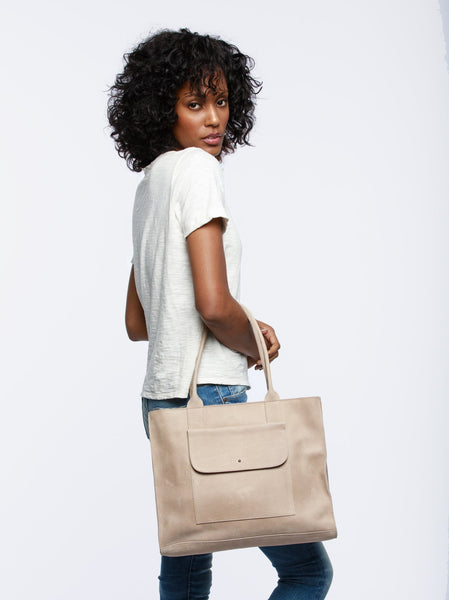Mare Pocket Tote Leather
