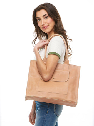 Mare Pocket Tote FASHIONABLE Leather