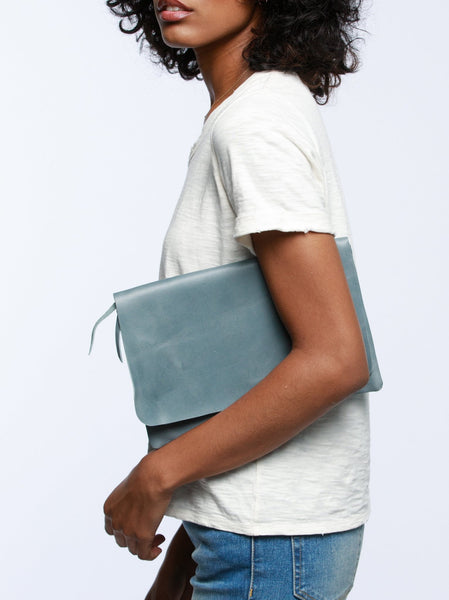 Mare Zip Clutch Leather