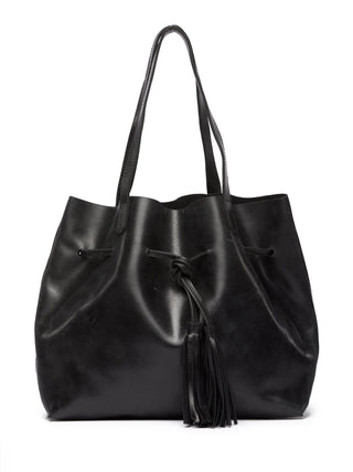 Maria Tassel Shopper - Black