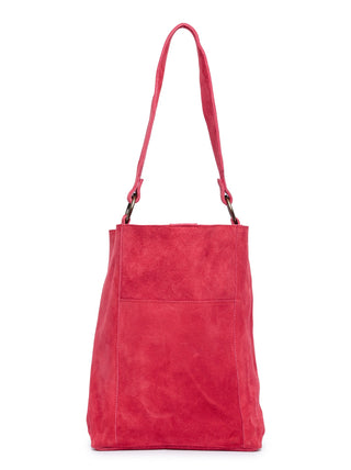 Mihiret Bucket Bag - Deep Raspberry Suede