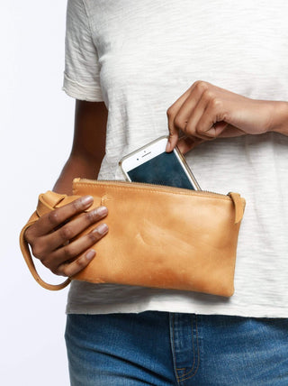 Rachel Wristlet FASHIONABLE Leather