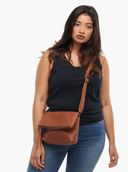 Emnet Foldover Crossbody FASHIONABLE Leather