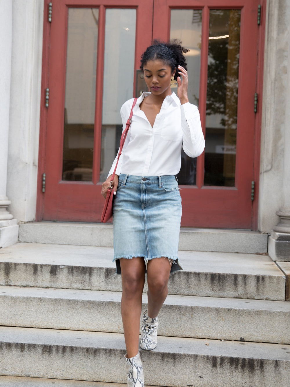 The Fatima Denim Skirt