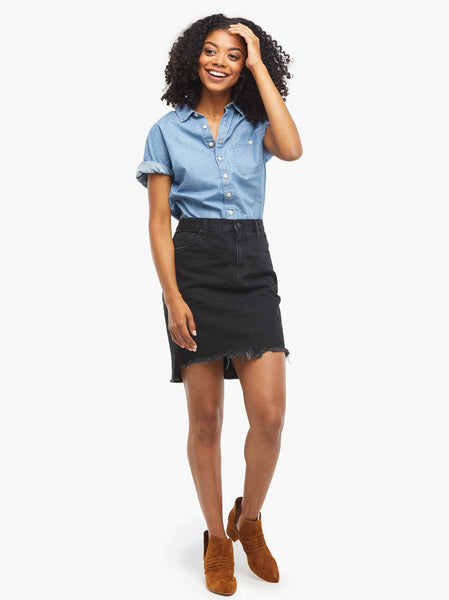 Laida Denim Skirt FASHIONABLE