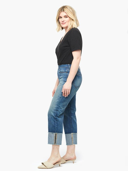 The Martha Permanent Cuff Straight FASHIONABLE Denim
