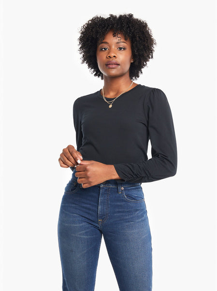 Agnes Ruched Sleeve Tee FASHIONABLE