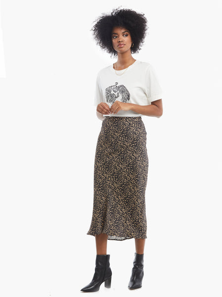 Rene Woven Midi Skirt FASHIONABLE