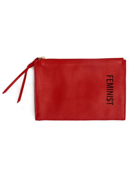 FEMINI$T Leather Pouch