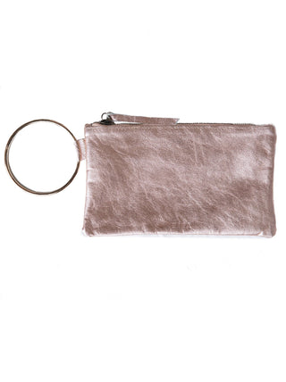 Fozi Wristlet - Rose Gold Metallic