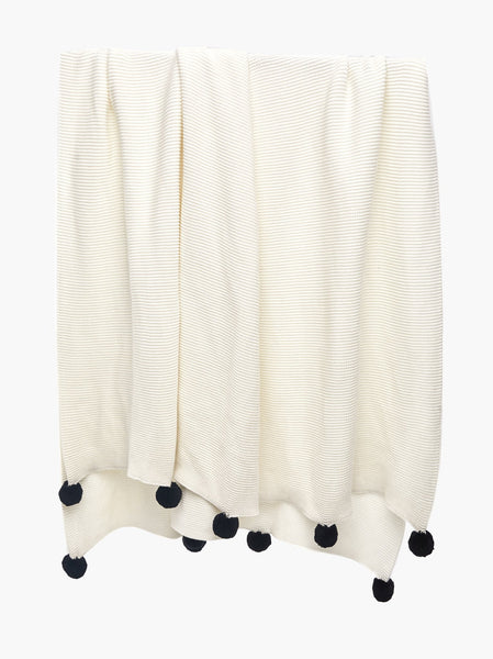 Nicole Pom Blanket FASHIONABLE