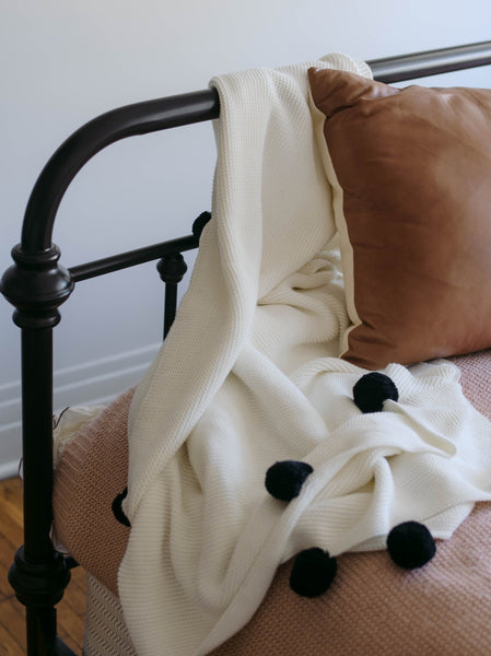 Nicole Pom Blanket FASHIONABLE Home Goods