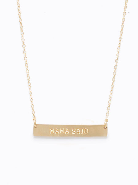 Mama Said Horizon Necklace FASHIONABLE