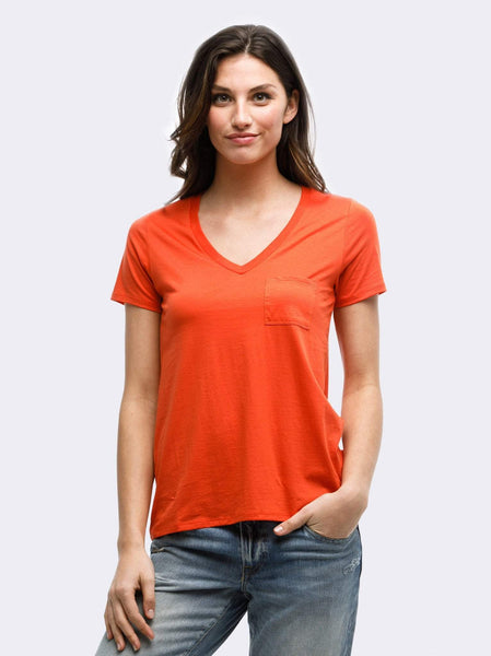 Karina V-Neck Tee FASHIONABLE