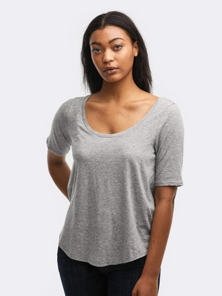 Katy Scoop Tee FASHIONABLE