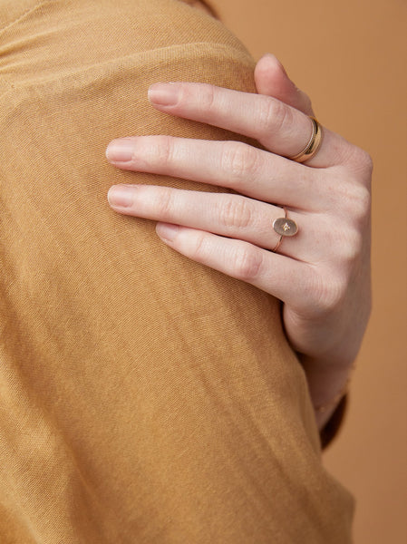 Dainty Oval Ring FASHIONABLE Rings