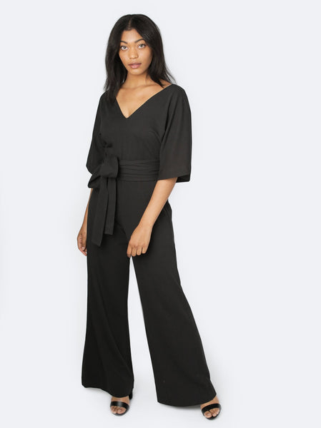 Rosario Flutter Sleeve Jumpsuit FASHIONABLE