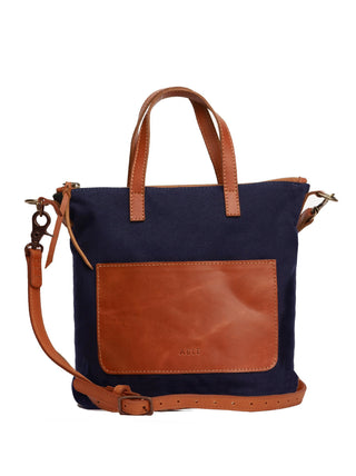 Abera Commuter Canvas - Navy Canvas/Chestnut