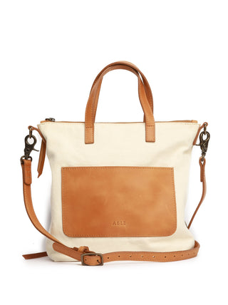 Abera Commuter Canvas - Natural Canvas/Cognac