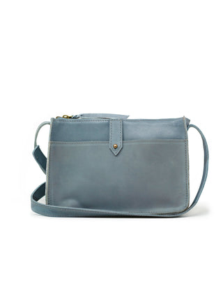 Chaltu Top Zip Crossbody - Denim Blue