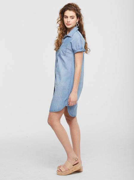 The Adriana Chambray Dress FASHIONABLE Denim