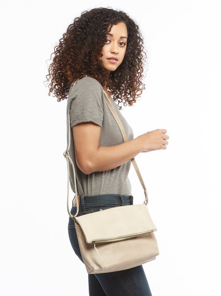 Large Emnet Foldover Crossbody FASHIONABLE Leather