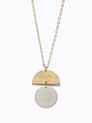 Figure Necklace - Brass/Silver