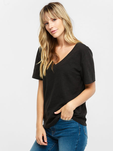 Palomino Relaxed V-Neck Tee FASHIONABLE Apparel