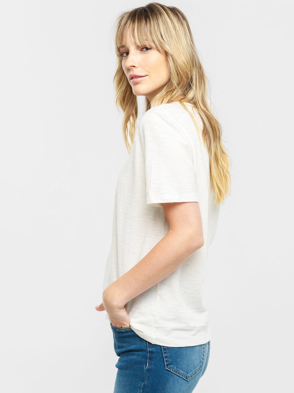 Palomino Relaxed V-Neck Tee