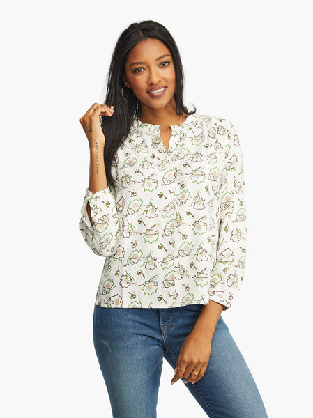Audrey Popover Blouse FASHIONABLE