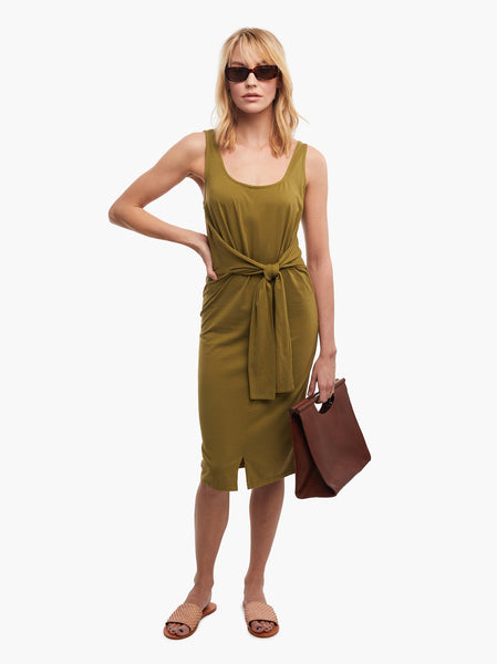 Gwen Knot Front Dress FASHIONABLE