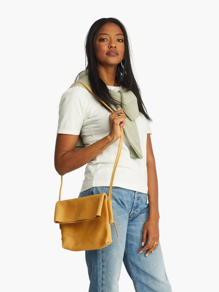 Lomi Foldover Crossbody FASHIONABLE Leather