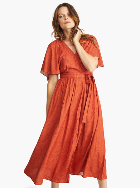 Loretta Wrap Dress FASHIONABLE