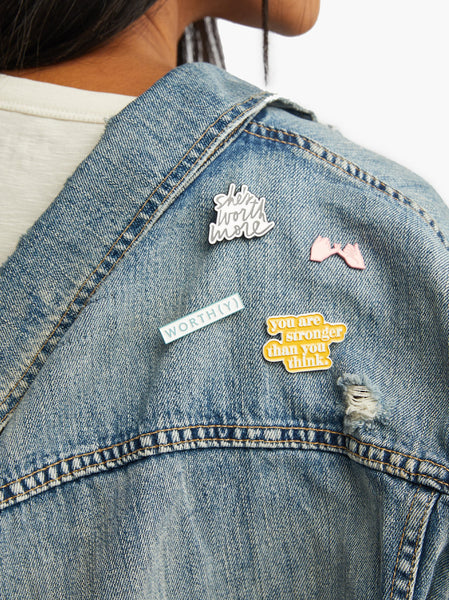 Community Collection Enamel Pin: Worthy FASHIONABLE
