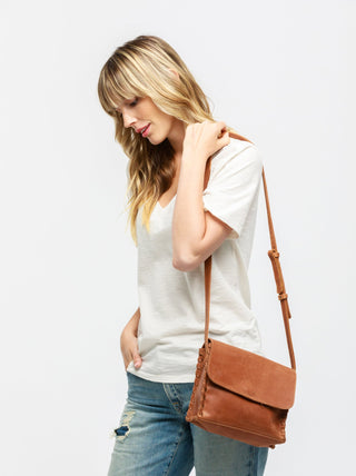 Sara Mini Whipstitch Crossbody FASHIONABLE Leather