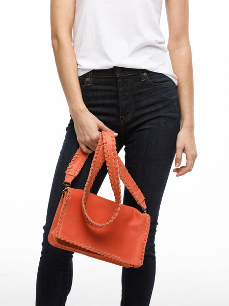 Sara Whipstitch Crossbody FASHIONABLE Leather