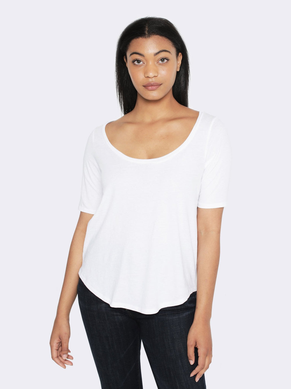 Katy Deep Scoop Tee