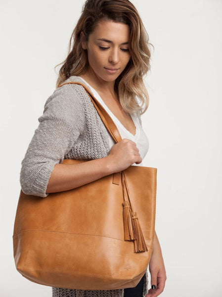 Tote Tassel Leather