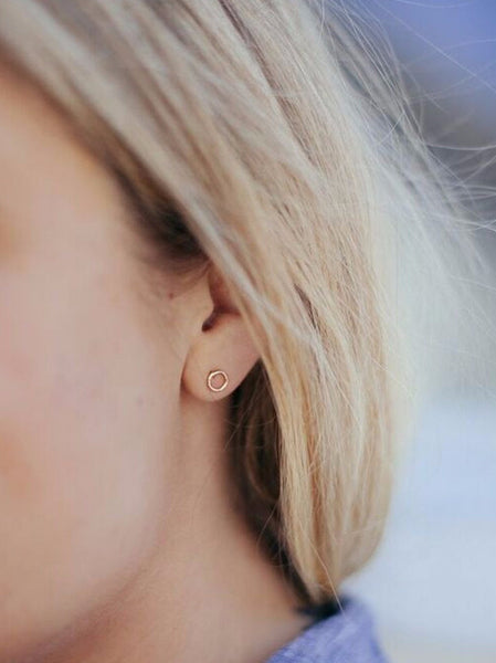 Gold Pin + Dot Earrings
