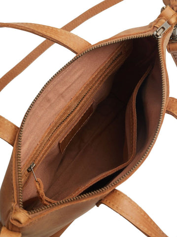 Inside Abera Commuter Leather Bag