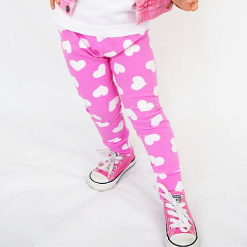 Pink/White Heart Leggings